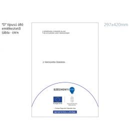 """2020 """"D"""" típusú emlékeztető tábla (297x420mm - Álló)"""